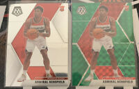 Admiral Schofield Lot 2019-20 Mosaic Green Prizm & Base Wizards FREE SHIPPING
