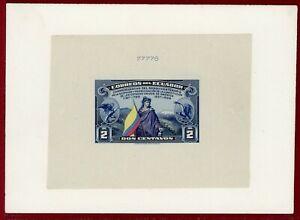 Ecuador 1938 #366, Die Proof on Card, 150th Anniv of US Constitution, Flag,ABNC