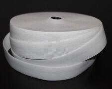 12 Meter Rolle 0,91 EUR//m Lochgummiband 30mm weiß