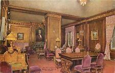 Chicago~Hotel La Salle Interior~The Waiting Room~Purple Velvet Chairs~1910