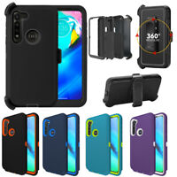 For Motorola Moto G Power 2020 / G Stylus Case Shockproof Belt Clip Stand Cover
