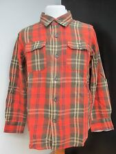 Boys Shirt Tailor Vintage Long Sleeve 100% Cotton Blue Red Green Ages 4 to 10