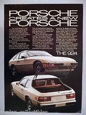 Porsche 924 PRINT AD -- 1977
