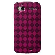 AMZER Luxe Argyle TPU Soft Skin Case For HTC Sensation 4G - Hot Pink