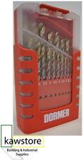 Dormer A087 201; High Speed Jobber Drill Bit Set Tin Coat 19 Piece; 1.0 - 10.0mm