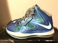 2012 Youth Nike Lebron X 10 Photo Blue Diamond Windchill Size 6.5Y Used Rare