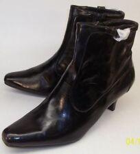 Nickels Flyer Black Ankle Boots women's 9.5 Side Zip With Buckle Vegan NEW