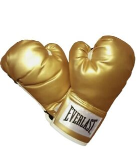 Everlast Gold 12oz Wrist Strap Training Boxing Gloves Model P00000161 New