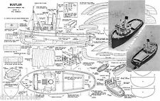 "Model Boat Plans Vintage 1955 18"" & 36"" harbor Tug radio control  plans & Notes"