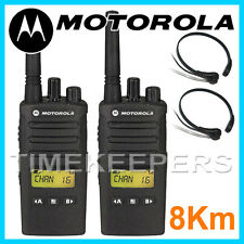 8 KM Motorola XT460 Walkie Talkie 2 DUE VIE IP55 Radio Militari d'affari Twin Set