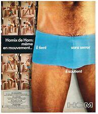 PUBLICITE ADVERSTISING  1975  HOM   slip sous vetements