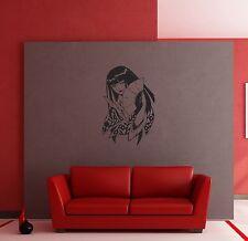 Wall Stickers Oriental Girl Woman Geisha for Bedroom z1302