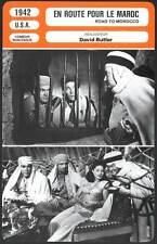 EN ROUTE POUR LE MAROC - Crosby,Hope,Lamour(Fiche Cinéma) 1942 - Road To Morocco
