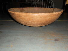 EARLY ANTIQUE PRIMITIVE VERY LARGE WOOD WOODEN BOWL