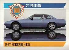 1987 Ferrari 412i, Italy, Dream Cars Trading Card, Automobile --- Not Postcard