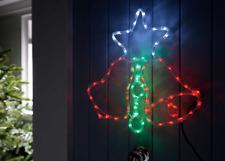 Carillón de Navidad Estrella Pre Iluminado LED luz de la Cuerda Ventana Silueta Decoración de Navidad