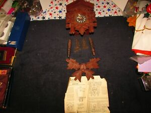 Cuckoo Clock Made in Germany Needs Fixing or for Parts