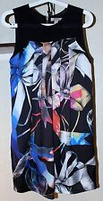 Ladies TED BAKER Sleeveless Dress Ribbons Print Back Zipper Size XS