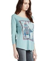Lucky Brand - Women's XS - NWT $39 - Nepal Elephant Ride Graphic 3/4 Sleeve Tee