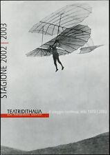 cartolina pubblicitaria PROMOCARD n.3255 TEATRI D'ITALIA STAGIONE 2002/03