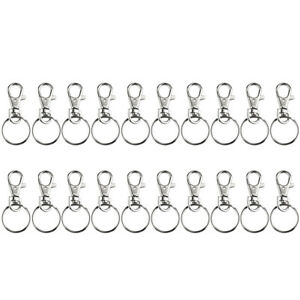 40PCS Metal Star Shape Claw Swivel Lobster Clasp,Snap Hook with Key Rings,DIY Accessories for Bag,Keychains,Jewelry Making Silver and Golden
