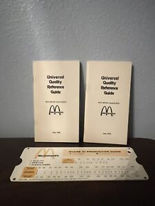Vintage Mcdonald's Management Income Sales Calculating Tools Corporate