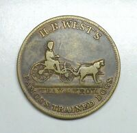 1853 New York Crystal Palace/H.B. West's Merchant's Token.