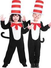 Kids Cat In The Hat Fancy Dress Costume New Girls Boys Dr Seuss Book Week Day