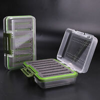 Maxcatch Waterproof Fly Box Slit Foam Fly Fishing Tackle Box Green