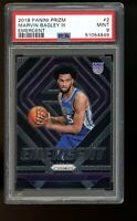 2018 Panini Prizm Emergent #2 Marvin Bagley Kings Rookie Card RC PSA 9