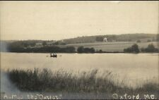 Oxford ME Across the Outlet c1910 Real Photo Postcard