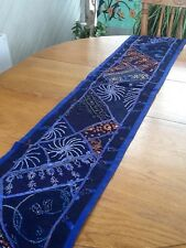 Table Runner - Royal Blue On Midnight Blue