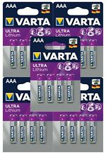 20 x Varta Ultra Lithium eh. Professional 6103 AAA Micro FR03 1,5V Batterie