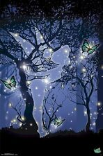 TINKER BELL~ STARS SILHOUETTE 22x34 CARTOON POSTER Disney Fairy Tinkerbell Tink