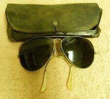 VTG WW2 B&L BAUSCH & LOMB RAY BAN AVIATOR GLASS LENS SUNGLASSES + CASE SS1