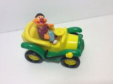 Illco Sesame Street Ernie In Vintage Wind-up Green And Yellow Car