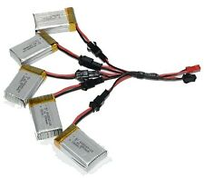 5x 7.4V 650mAh Battery with Charging Cable for JJRC H8C H8D DFD F182 F183 Quad