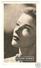 Katharine Hepburn Vintage 1950 Kwatta Movie Star Collector Card D