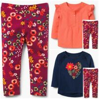 Gymboree Girls Floral Leggings Ruffled Top 12-18 18-24 2T 3T NWT