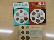Israeli Proof like coin lot coin mint sets! 1968-1970! lot 112