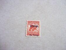 AITUTAKI COOK ISLANDS STAMP SG 7 Scott 6 BRIGHT RED OG NH