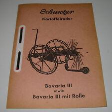 Ersatzteilliste Schmotzer Kartoffelroder Bavaria III + Bavaria III mit Rolle!