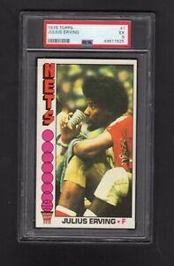 1976 Topps #1 Julius Erving HOF PSA 5 EX looks much nicer centered