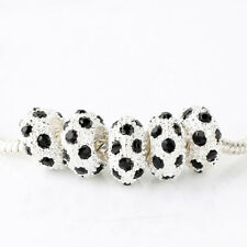 5pcs Silver Black CZ Nest Spacer Beads For European Charm Bracelet DIY