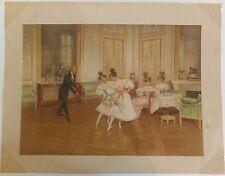 ballet cours de danse Chromolithographie XIXème siècle