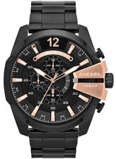 DIESEL MEGA CHIEF Chronograph Black Rose Gold Dial Stainless Bracelet DZ4309