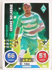 Match Attax 2016/17 Bundesliga - #039 Theodor Gebre Selassie - SV Werder Bremen