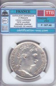 NAPOLEON EMPEREUR 5 FRANCS 1812.A PARIS  ARGENT/SILVER