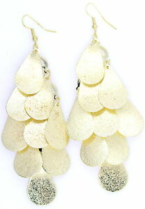 Boho style 10.5cm long frosted drop chandelier earrings, multiple choices