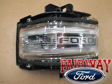 17 thru 18 Super Duty OEM Ford Mirror Signal Lamp Lens w/ Spot - LEFT DRIVER